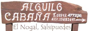 Cabañas En Salsipuedes, Villa Silvina, Virgen de Itati, Sierras Chicas. Córdoba